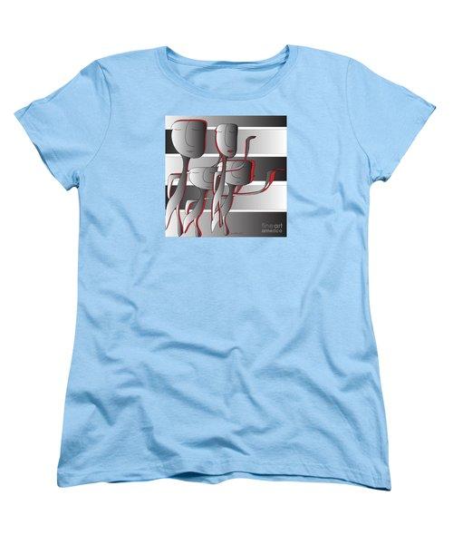 Women's T-Shirt (Standard Cut) featuring the digital art Side By Side by Iris Gelbart