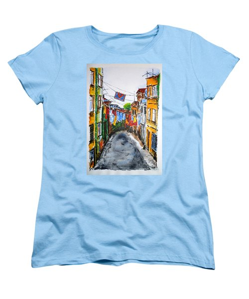 Side Street Women's T-Shirt (Standard Cut) by Zaira Dzhaubaeva
