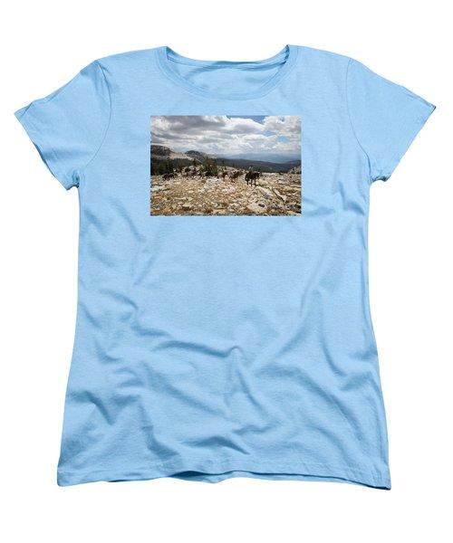 Sierra Trail Women's T-Shirt (Standard Cut) by Diane Bohna