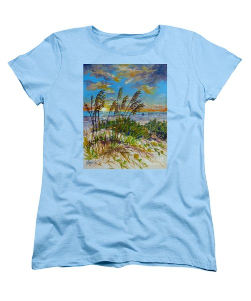Siesta Beach Sunset Dunes Women's T-Shirt (Standard Cut) by Lou Ann Bagnall