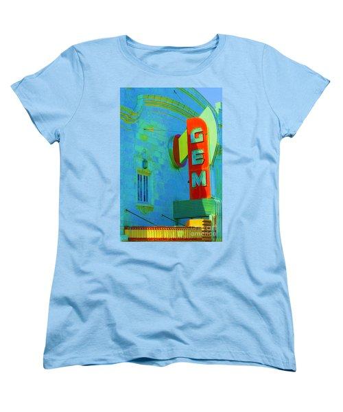 Sign - Gem Theater - Jazz District  Women's T-Shirt (Standard Cut) by Liane Wright