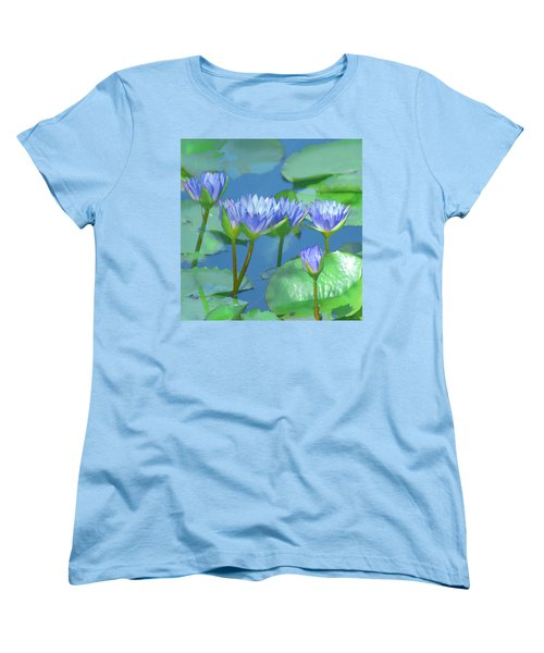 Silken Lilies Women's T-Shirt (Standard Cut) by Holly Kempe