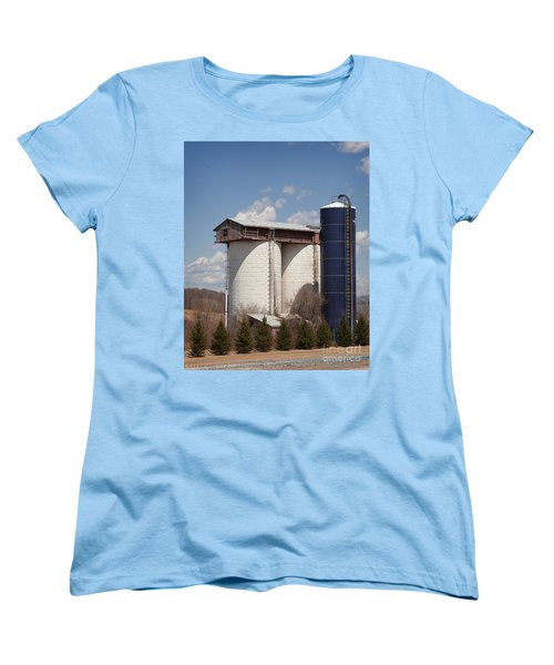 Women's T-Shirt (Standard Cut) featuring the photograph Silo House With A View - Color by Carol Lynn Coronios