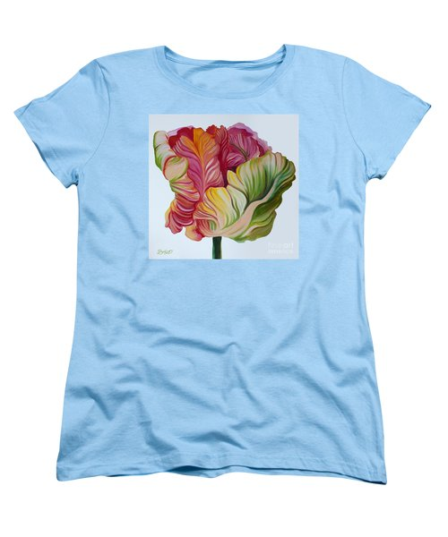 Simple Tulip Women's T-Shirt (Standard Cut) by Debbie Hart
