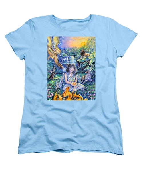 Simply Elemental Women's T-Shirt (Standard Cut) by Gail Butler