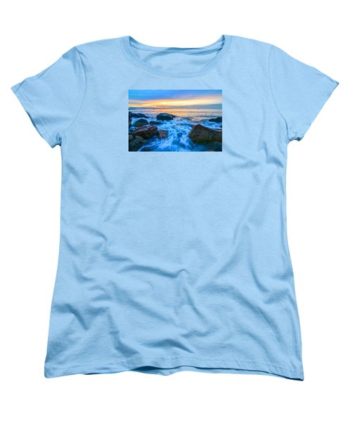 Singing Sunrise Singing Beach Women's T-Shirt (Standard Cut) by Michael Hubley