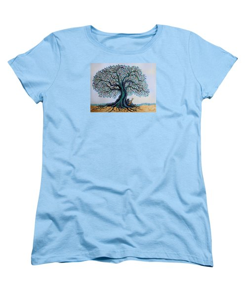 Singing Under The Blues Tree Women's T-Shirt (Standard Cut) by Nick Gustafson