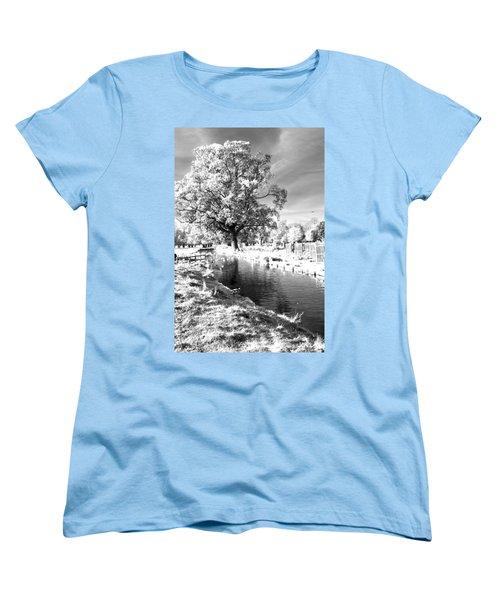 Single Tree Aginst The Sun Women's T-Shirt (Standard Cut) by Maj Seda