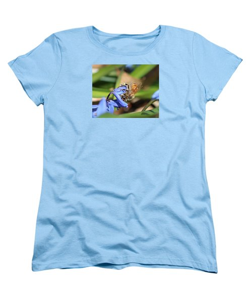 Sipping Upside-down Women's T-Shirt (Standard Cut) by Lucinda VanVleck