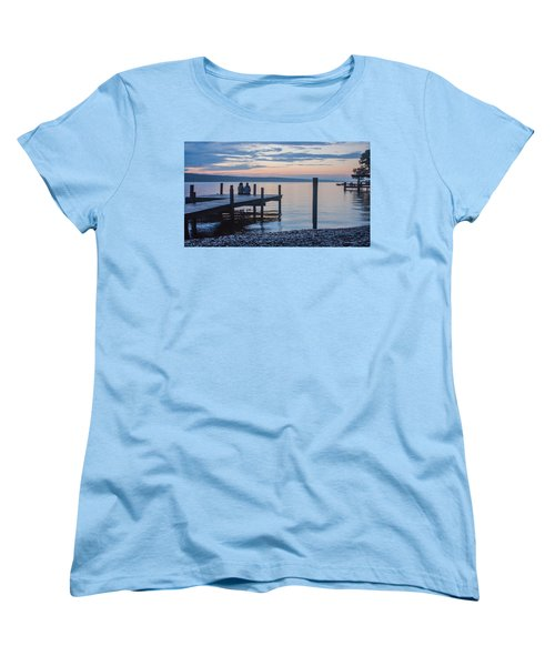 Sisters - Lakeside Living At Sunset Women's T-Shirt (Standard Cut) by Photographic Arts And Design Studio