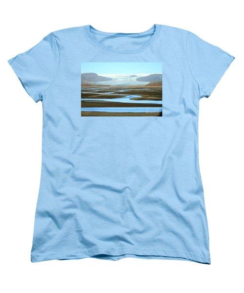 Women's T-Shirt (Standard Cut) featuring the photograph Skaftafell Glacier by Paula Guttilla