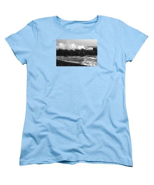 Women's T-Shirt (Standard Cut) featuring the photograph Skagen Waves by Randi Grace Nilsberg
