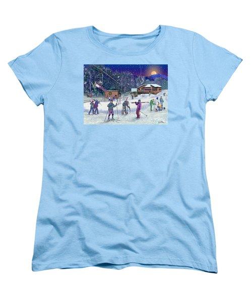 Ski Area Campton Mountain Women's T-Shirt (Standard Cut) by Nancy Griswold