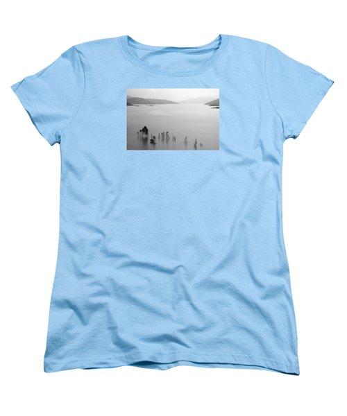 Women's T-Shirt (Standard Cut) featuring the photograph Skc 0055 A Hazy Riverscape by Sunil Kapadia