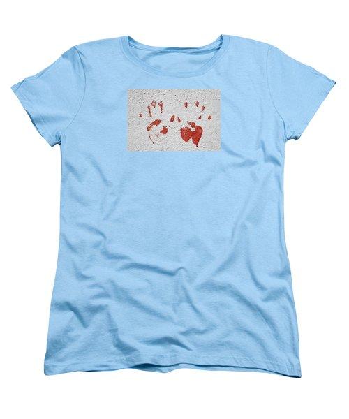 Women's T-Shirt (Standard Cut) featuring the photograph Skc 1058 Palm Impressions by Sunil Kapadia