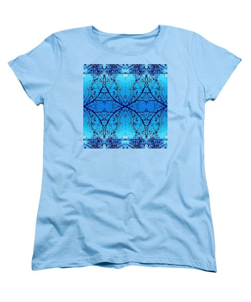 Sky Diamonds Abstract Photo Women's T-Shirt (Standard Cut) by Marianne Dow
