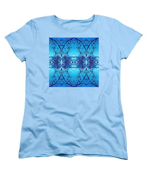 Sky Lace Abstract Photo Women's T-Shirt (Standard Cut) by Marianne Dow