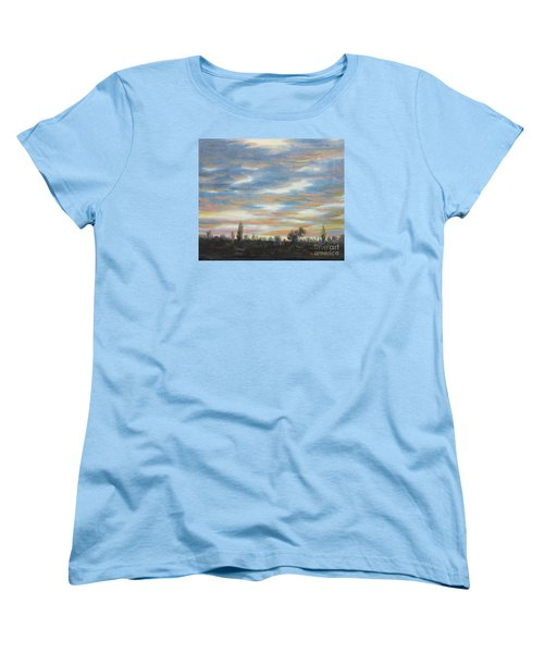 Women's T-Shirt (Standard Cut) featuring the painting Sky by Vesna Martinjak