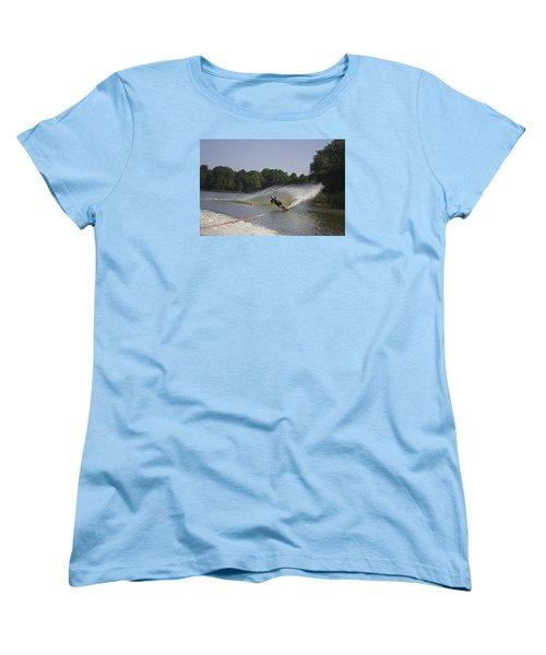 Slalom Waterskiing Women's T-Shirt (Standard Cut) by Venetia Featherstone-Witty