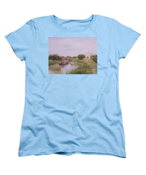 Slapton Lock Women's T-Shirt (Standard Cut) by Martin Howard