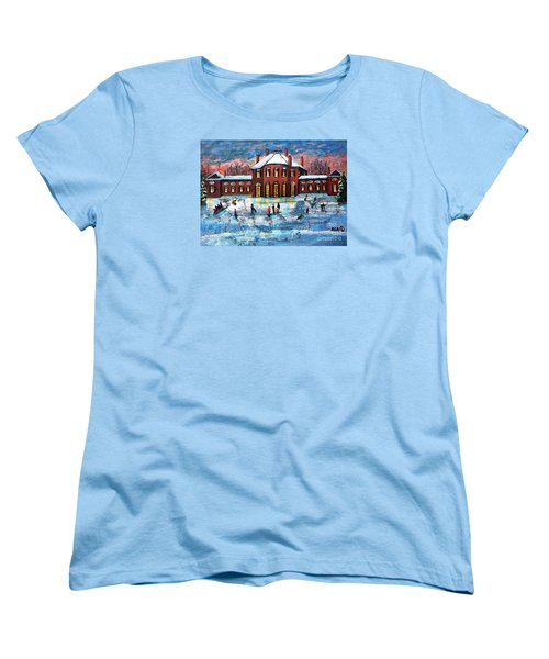 Sledding At The Gore Estate Women's T-Shirt (Standard Cut) by Rita Brown