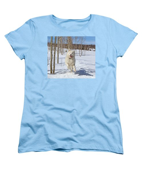 Smiling From Ear To Ear Women's T-Shirt (Standard Cut) by Fiona Kennard