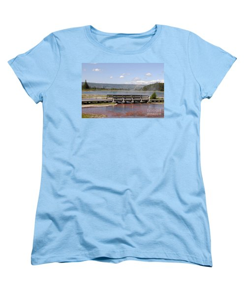 Women's T-Shirt (Standard Cut) featuring the photograph Smoke On The Water by Mary Carol Story