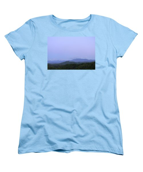 Smokies At Dusk Women's T-Shirt (Standard Cut) by Mark Minier