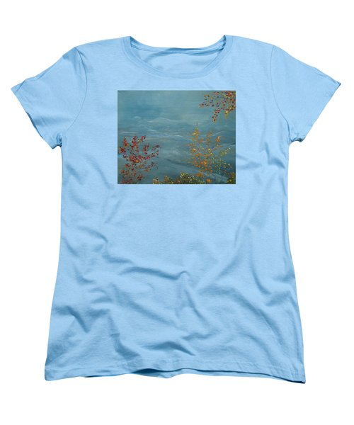 Women's T-Shirt (Standard Cut) featuring the painting Smoky Mountains In Autumn by Judith Rhue