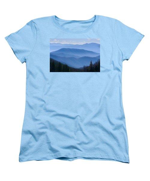 Smoky Mountains Women's T-Shirt (Standard Cut) by Melinda Fawver