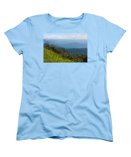 Smoky Mountains View Women's T-Shirt (Standard Cut) by Melinda Fawver