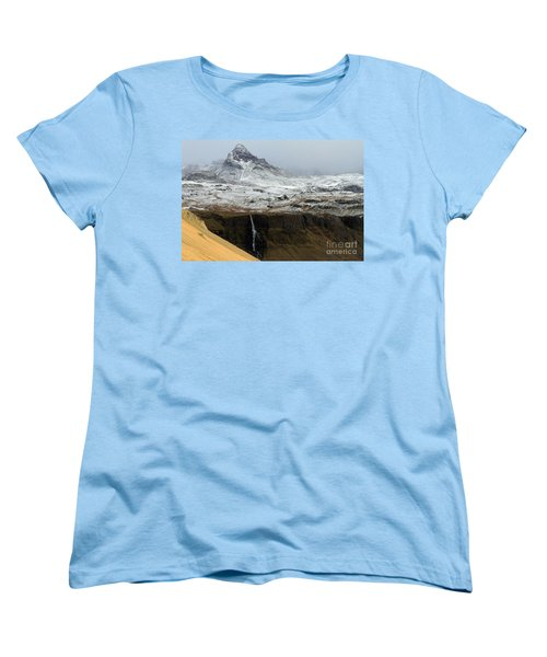 Women's T-Shirt (Standard Cut) featuring the photograph Snaefellsnes Peninsula #1 by Paula Guttilla