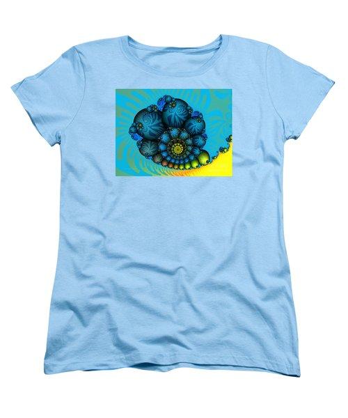 Snail Mail-fractal Art Women's T-Shirt (Standard Cut) by Karin Kuhlmann