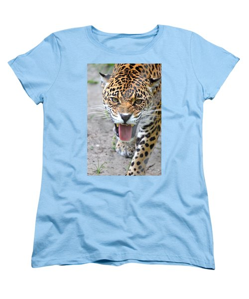 Snarling Jaguar  Women's T-Shirt (Standard Cut) by Richard Bryce and Family