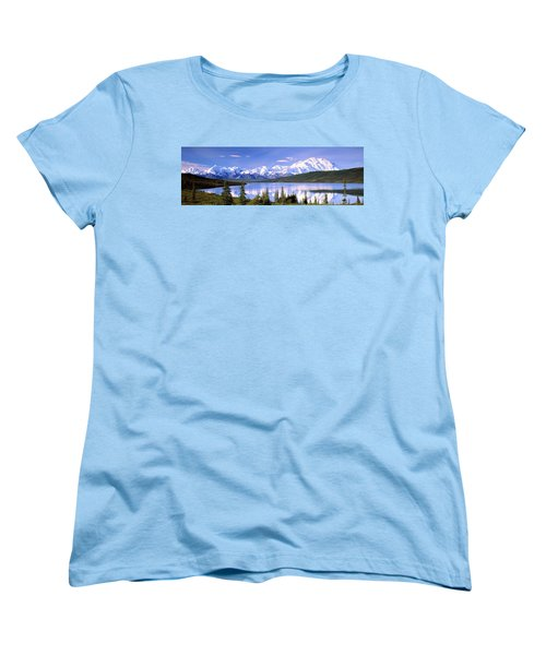 Snow Covered Mountains, Mountain Range Women's T-Shirt (Standard Fit)