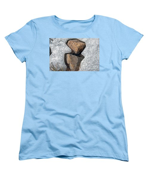 Women's T-Shirt (Standard Cut) featuring the photograph Snow Melt 2 by Minnie Lippiatt