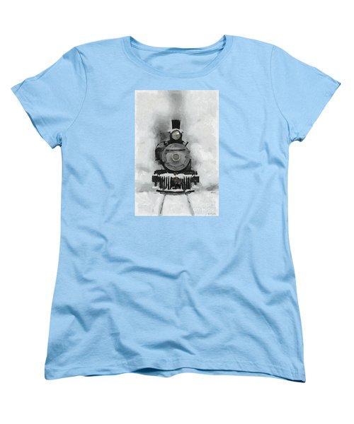 Snow Train Women's T-Shirt (Standard Cut) by Dragica  Micki Fortuna