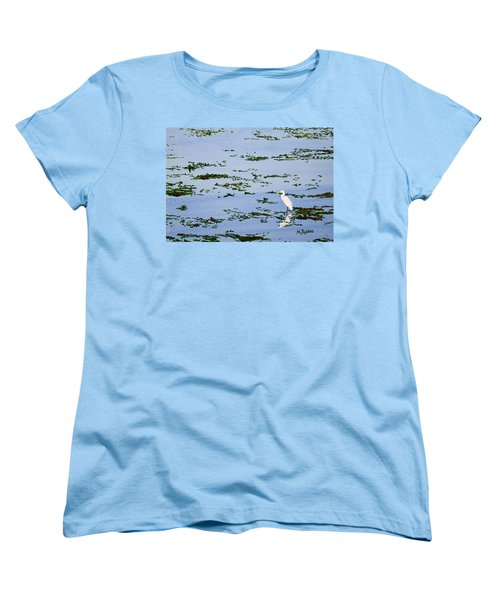 Snowy Egret Women's T-Shirt (Standard Cut) by Mike Robles