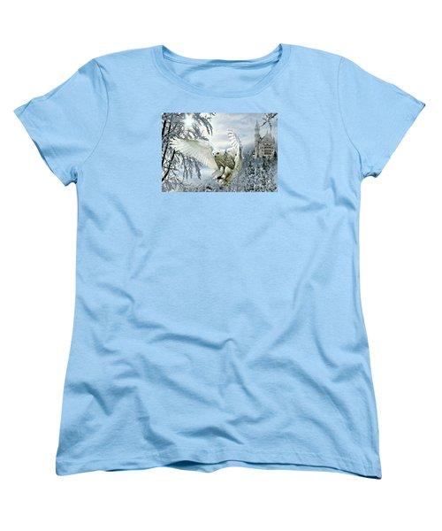 Snowy Owl Women's T-Shirt (Standard Cut) by Morag Bates
