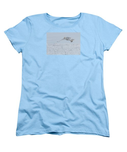 Women's T-Shirt (Standard Cut) featuring the photograph Snowy Owl #1/3 by Patti Deters