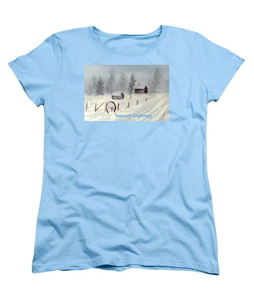 Snowy Road Women's T-Shirt (Standard Cut) by Christine Lathrop