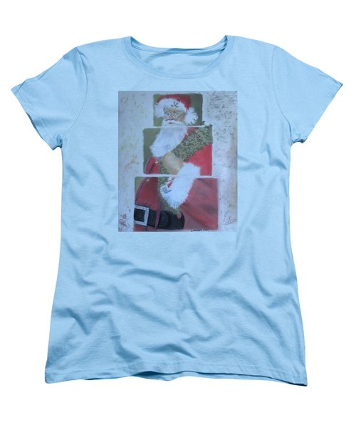 S'nta Claus Women's T-Shirt (Standard Cut) by Claudia Goodell