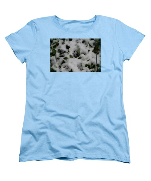 Women's T-Shirt (Standard Cut) featuring the photograph So Much For An Early Spring by David S Reynolds
