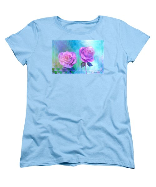 Soft And Beautiful Roses Women's T-Shirt (Standard Cut)