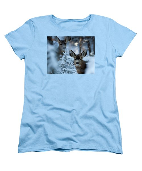 Women's T-Shirt (Standard Cut) featuring the photograph Somebody To Watch Over Me by Jim Garrison