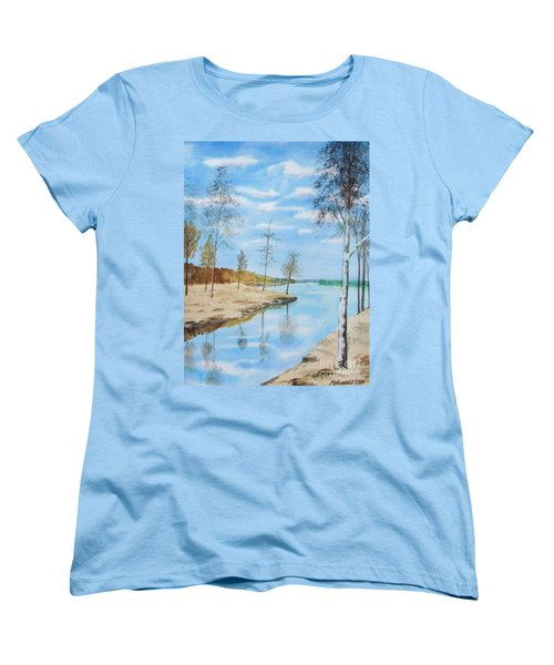 Women's T-Shirt (Standard Cut) featuring the painting Somewhere In Dalarna by Martin Howard