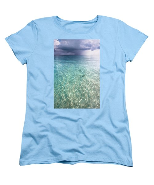 Somewhere Is Rainy. Maldives Women's T-Shirt (Standard Cut) by Jenny Rainbow
