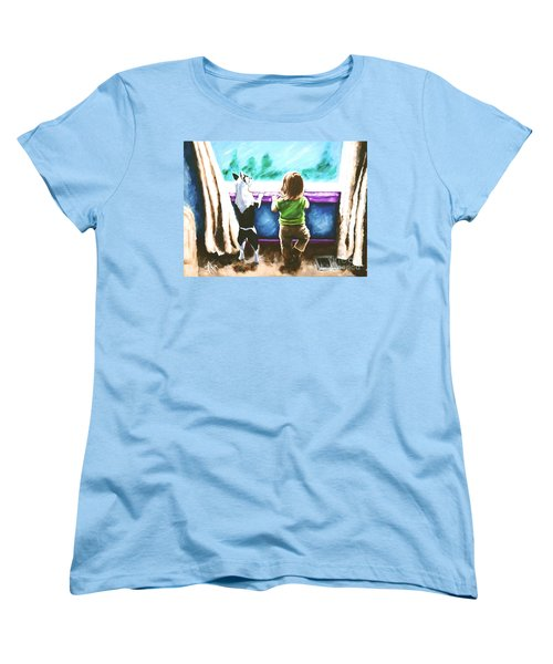 Waiting For Daddy Women's T-Shirt (Standard Cut) by Jackie Carpenter