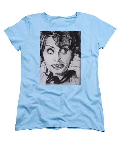 Sophia Loren Telephones Women's T-Shirt (Standard Cut) by Sean Connolly