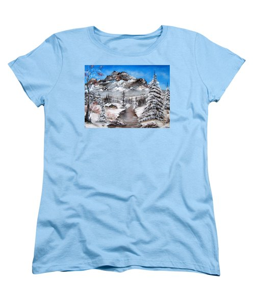 Women's T-Shirt (Standard Cut) featuring the painting South Dakota Morning by Patrice Torrillo
